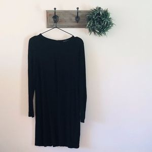 Eileen Fisher Black Swing Dress M